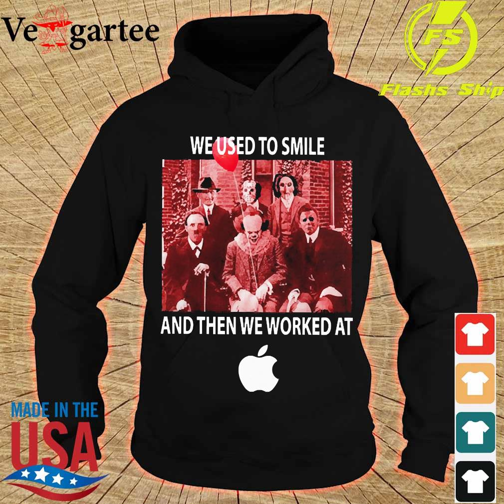 Horror characters We used to smile and then We worked at Apple s hoodie