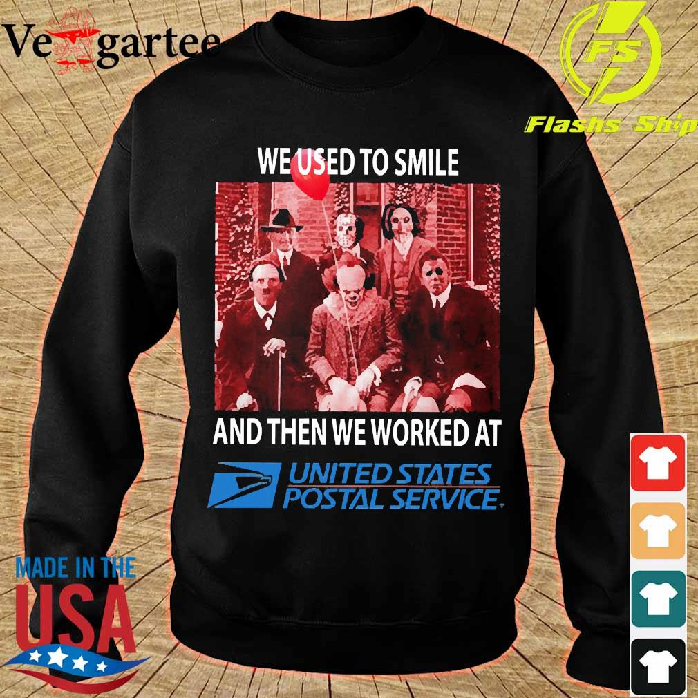 Horror characters We used to smile and then We worked at United States Postal Service s sweater
