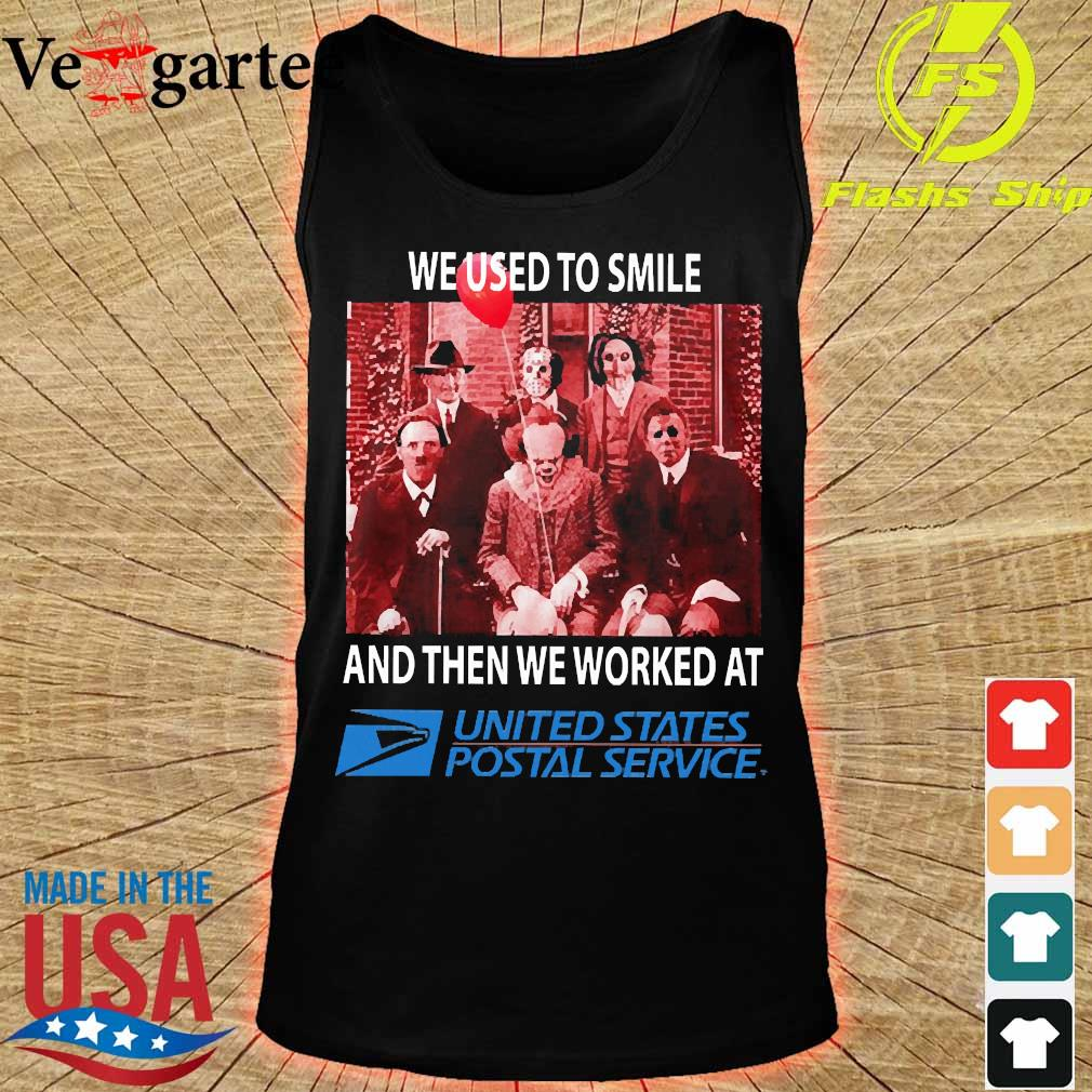 Horror characters We used to smile and then We worked at United States Postal Service s tank top