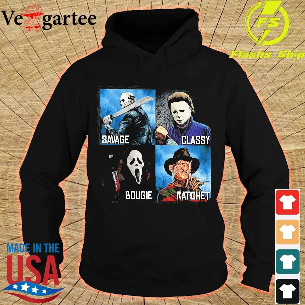 Horror Movies Characters savage classy bougie ratchet s hoodie