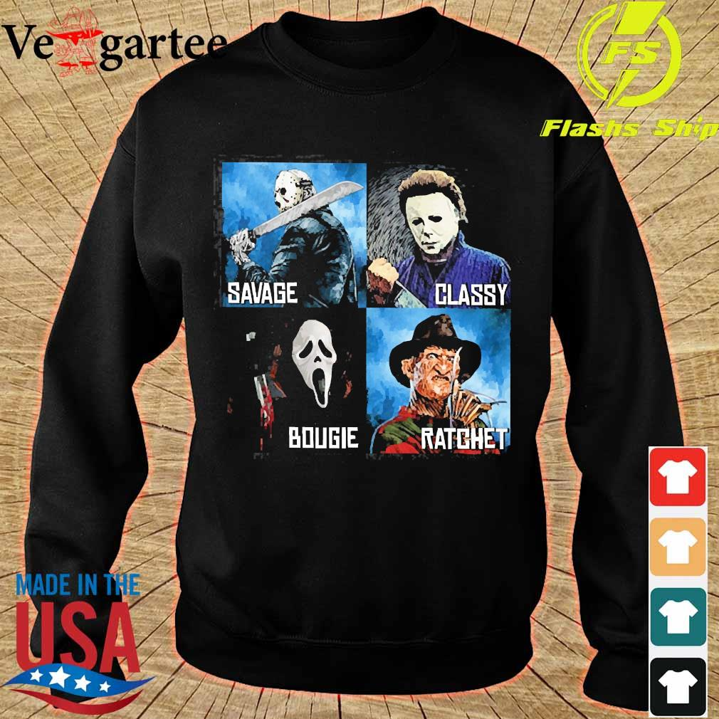 Horror Movies Characters savage classy bougie ratchet s sweater