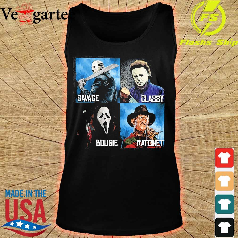 Horror Movies Characters savage classy bougie ratchet s tank top