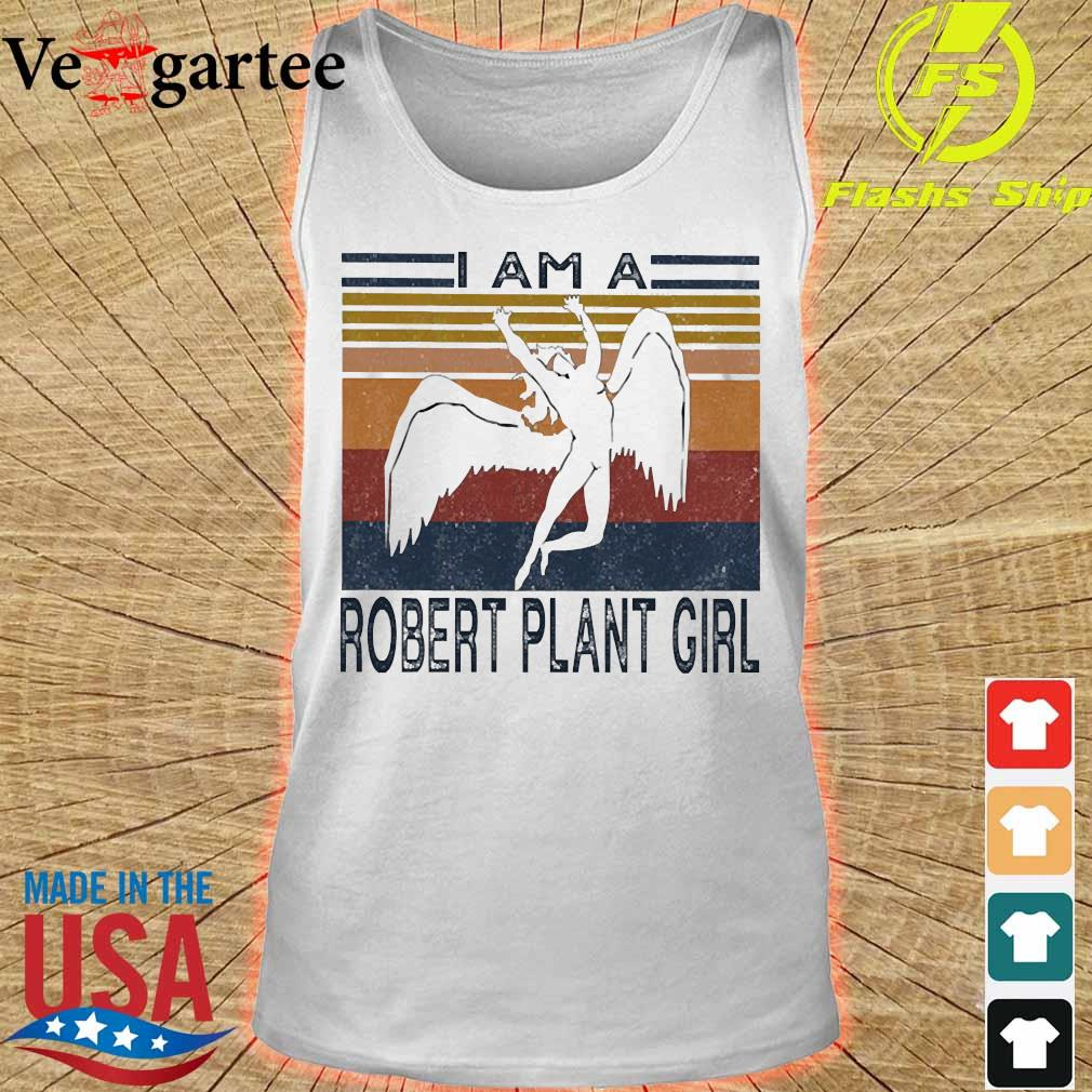 I am a Robert plant girl vintage s tank top