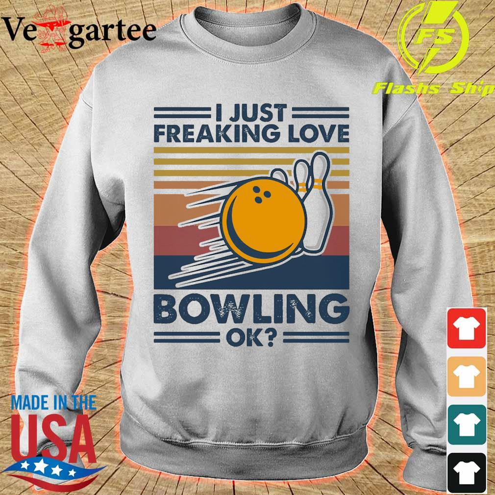 I just freaking love bowling ok vintage s sweater