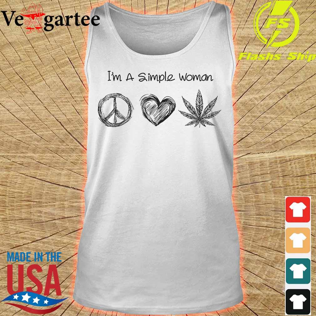 I'm a simple woman peace heart weed s tank top
