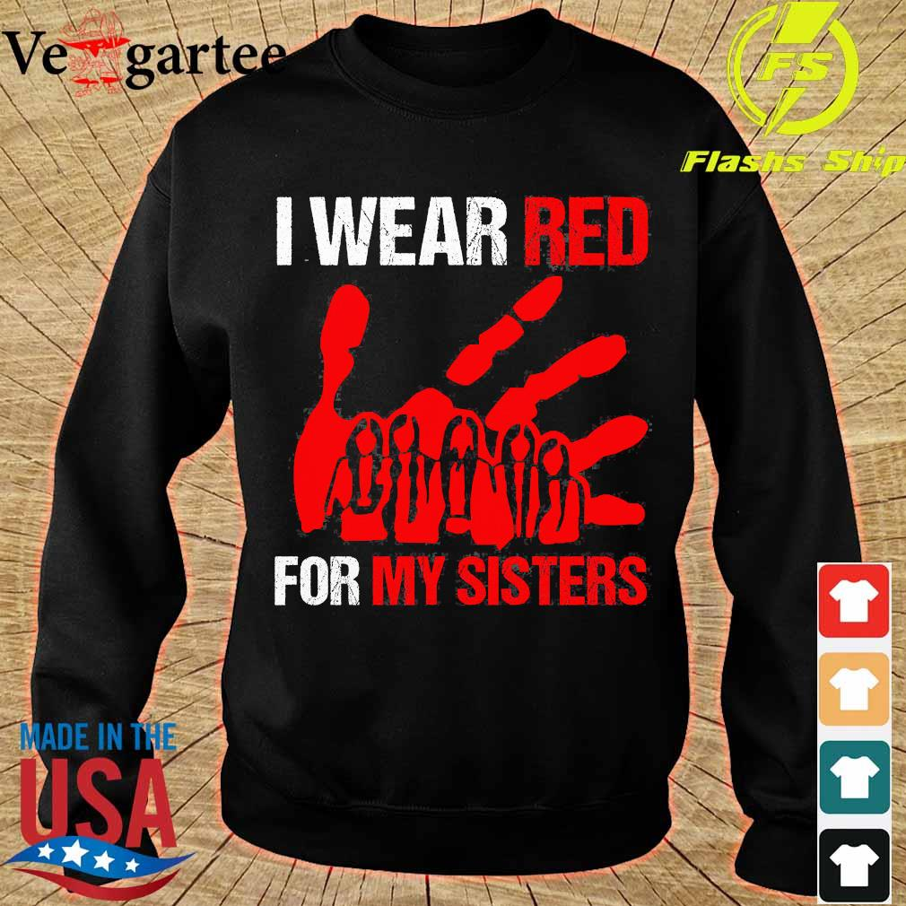 I wear red for my sisters s sweater