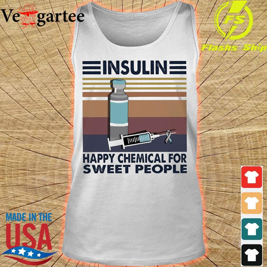 Insulin happy chemical for sweet people vintage s tank top