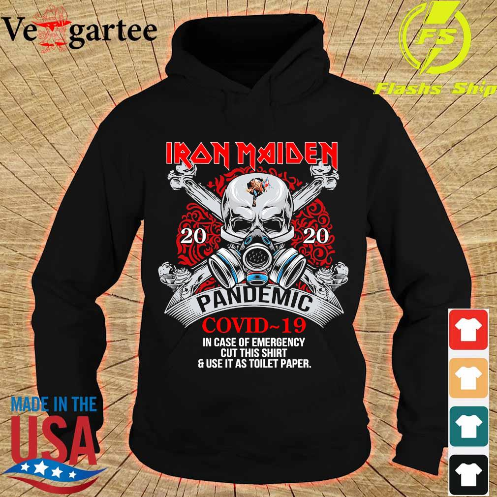 Iron Maiden 2020 pandemic covid 19 in case of emergency s hoodie