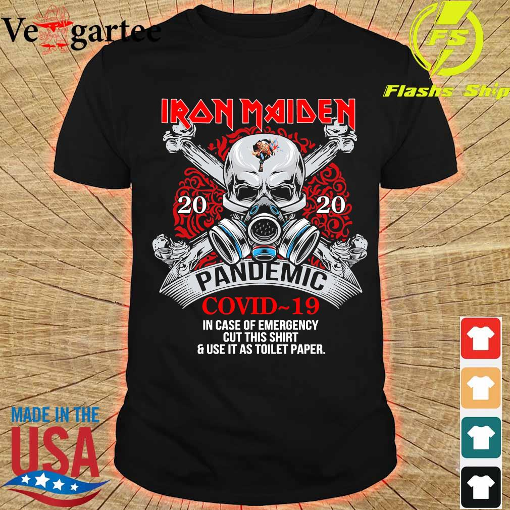Iron Maiden 2020 pandemic covid 19 in case of emergency shirt