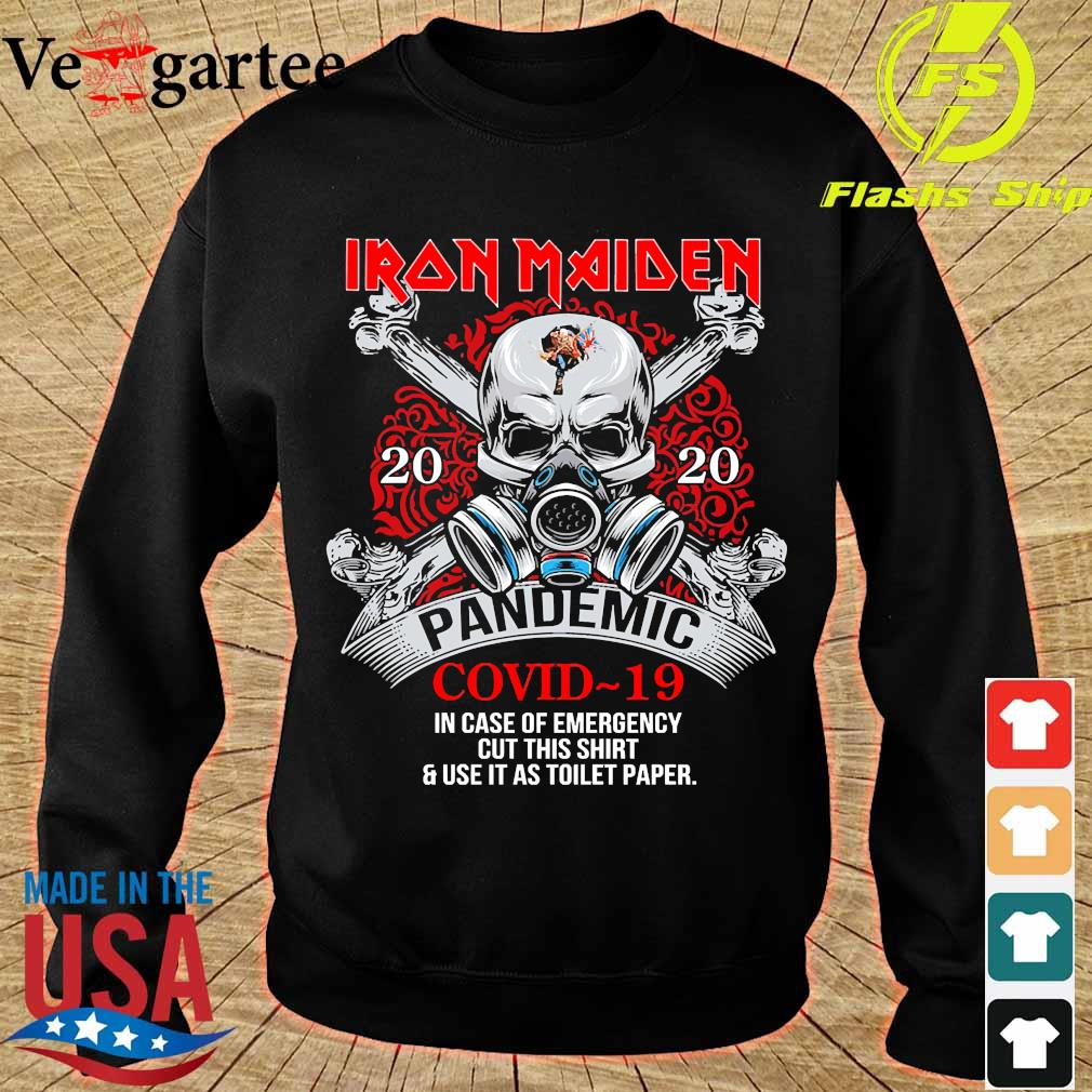 Iron Maiden 2020 pandemic covid 19 in case of emergency s sweater