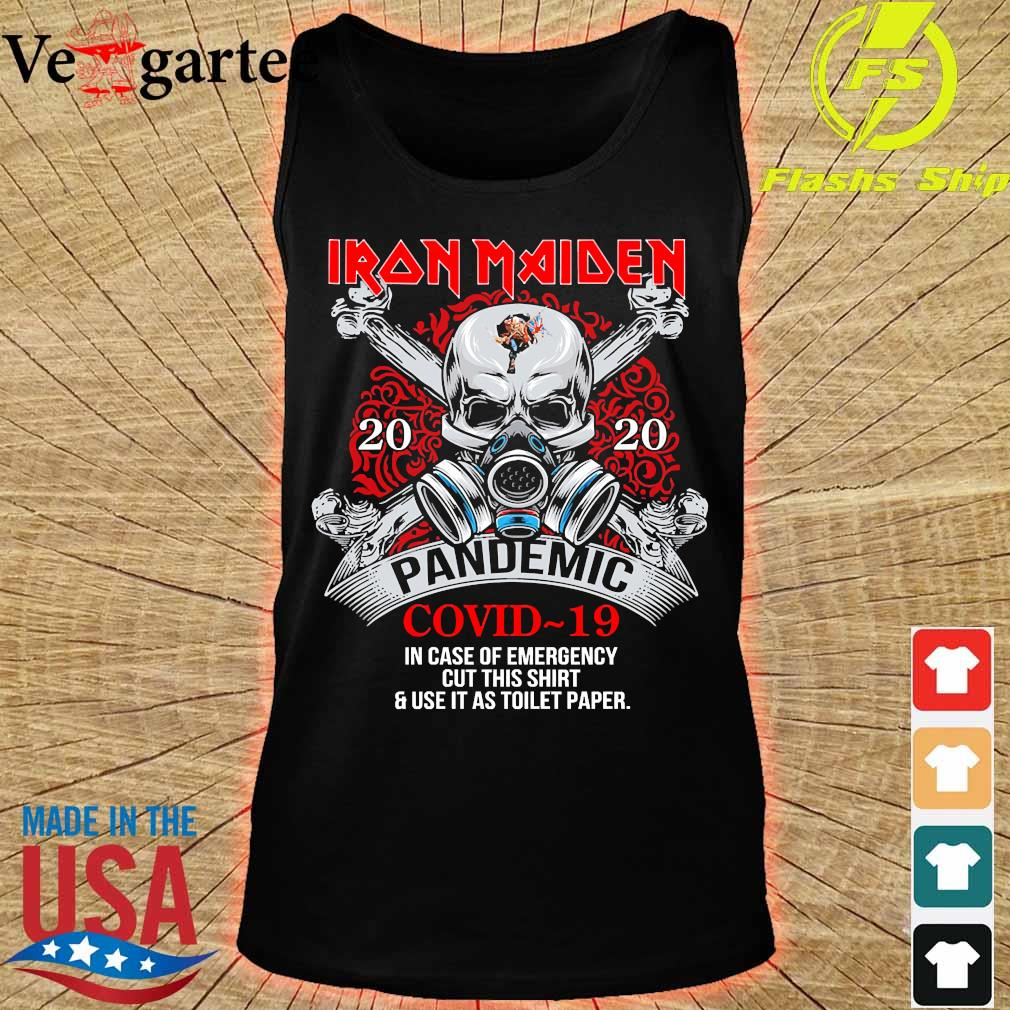 Iron Maiden 2020 pandemic covid 19 in case of emergency s tank top