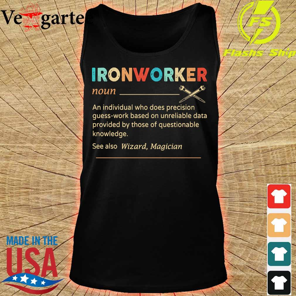Ironworker definition s tank top