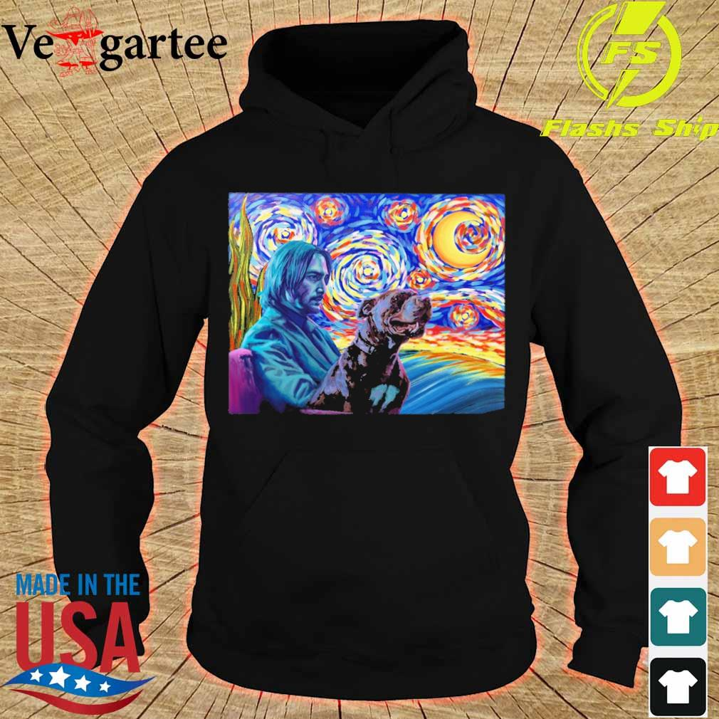 John wick and dog starry night s hoodie