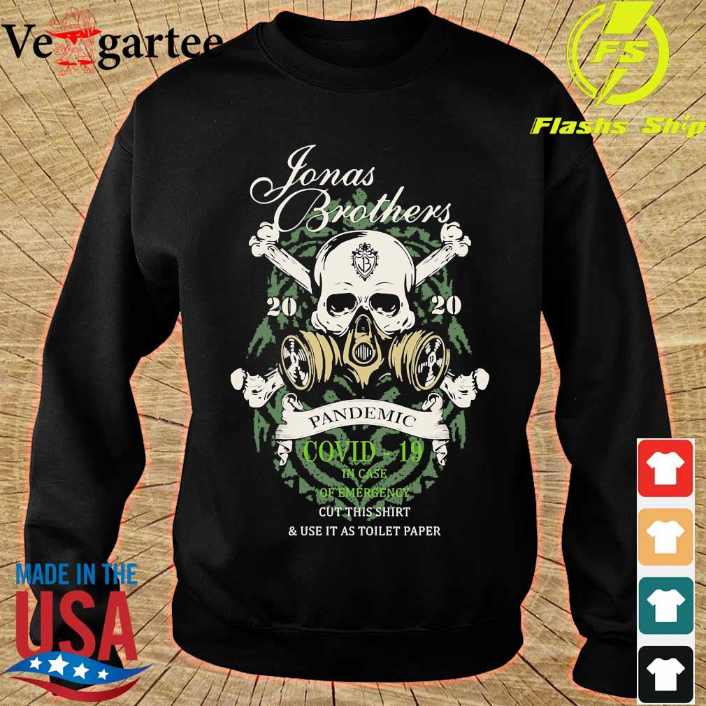 Jonas Brothers Stones 2020 pandemic covid 19 in case of emergency s sweater