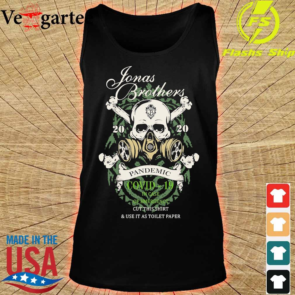 Jonas Brothers Stones 2020 pandemic covid 19 in case of emergency s tank top