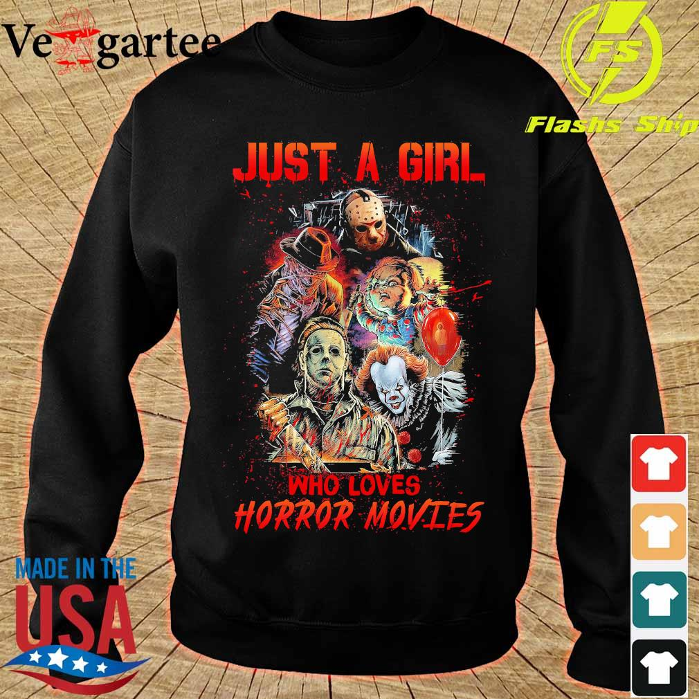 Just a girl who loves Horror Movies s sweater