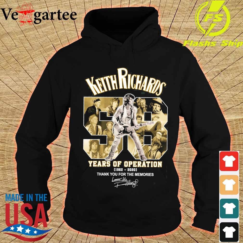 Keith Richards 58 years of operation 1962 2020 thank You for the memories signatures s hoodie