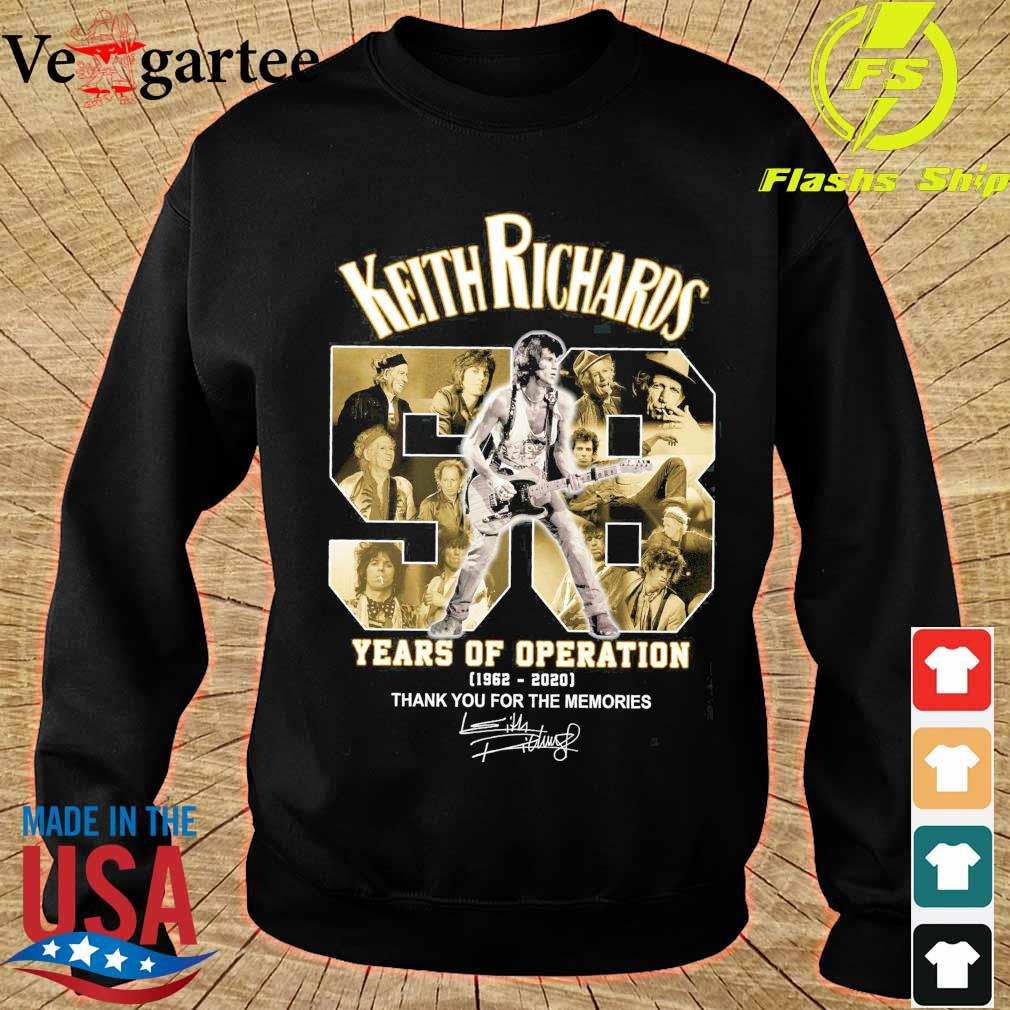 Keith Richards 58 years of operation 1962 2020 thank You for the memories signatures s sweater