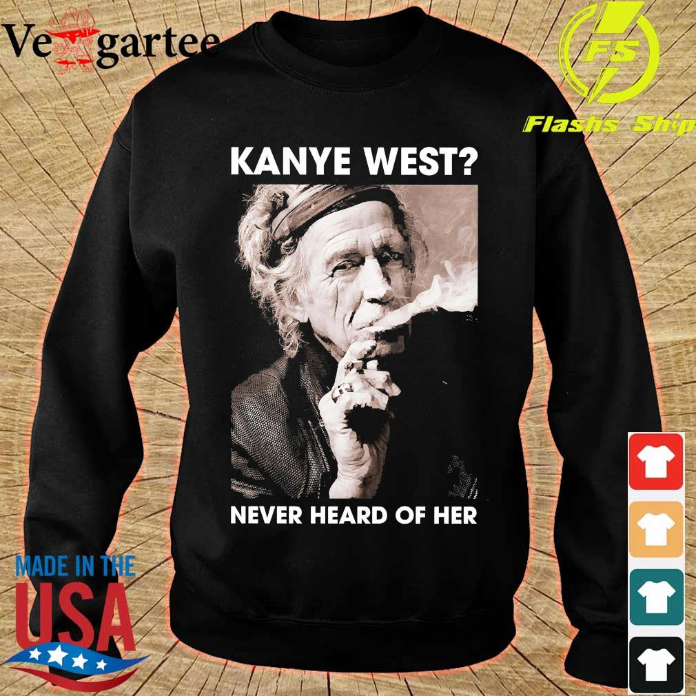 Keith Richards kanye west never heard of her s sweater
