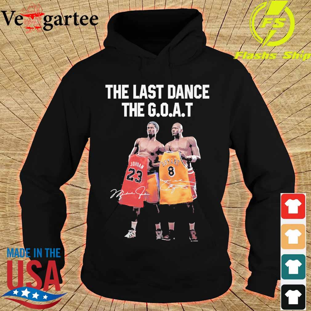 Kobe Bryant and Michael Jordan the last dance the goat signatures s hoodie