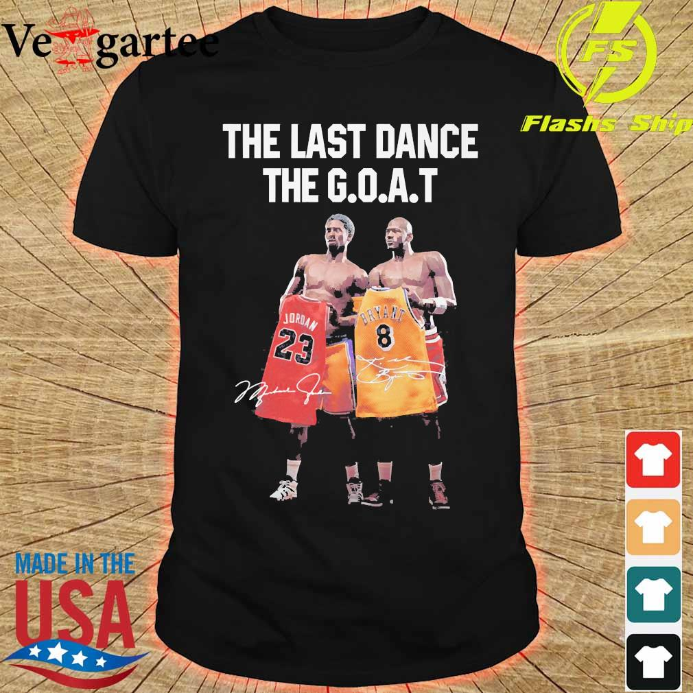 Kobe Bryant and Michael Jordan the last dance the goat signatures shirt
