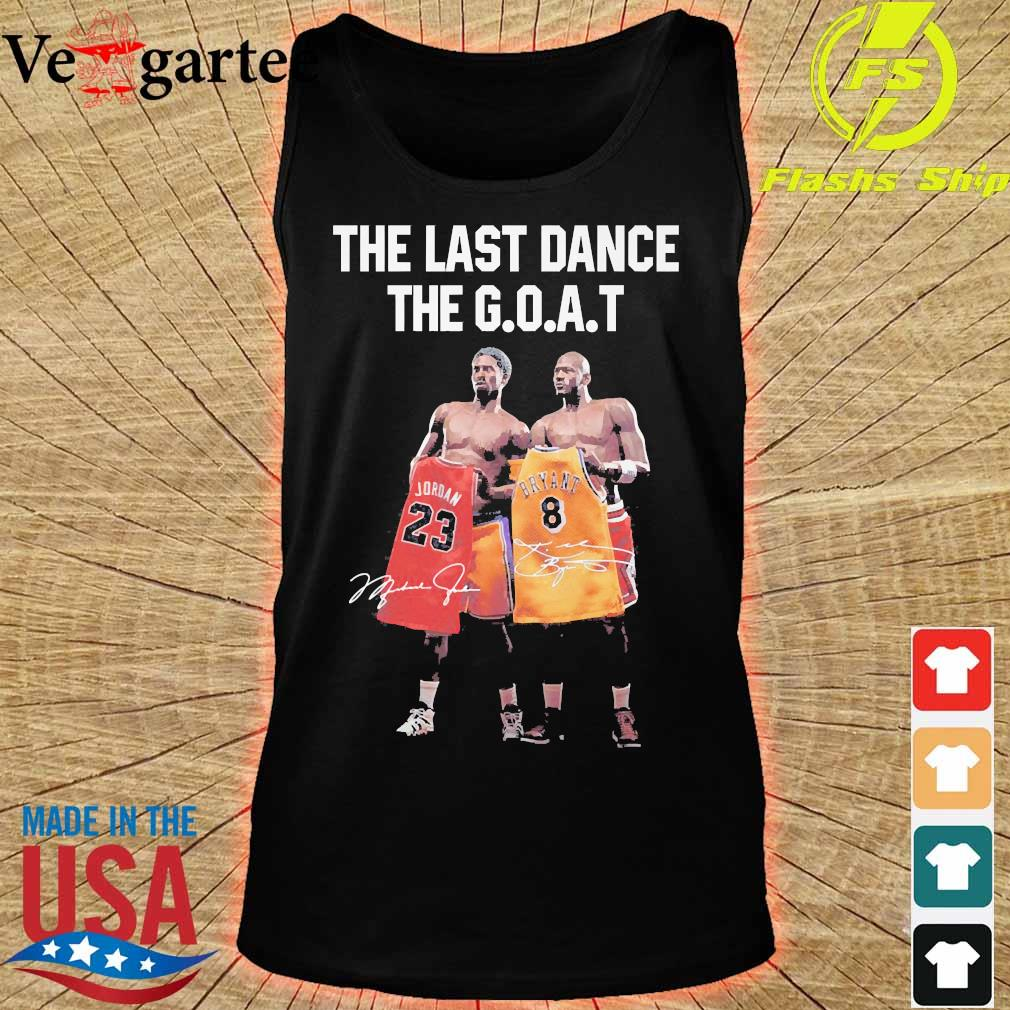 Kobe Bryant and Michael Jordan the last dance the goat signatures s tank top