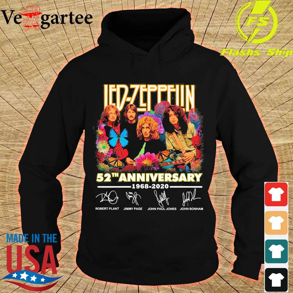 Led Zeppelin 52th anniversary 1968 2020 signatures s hoodie