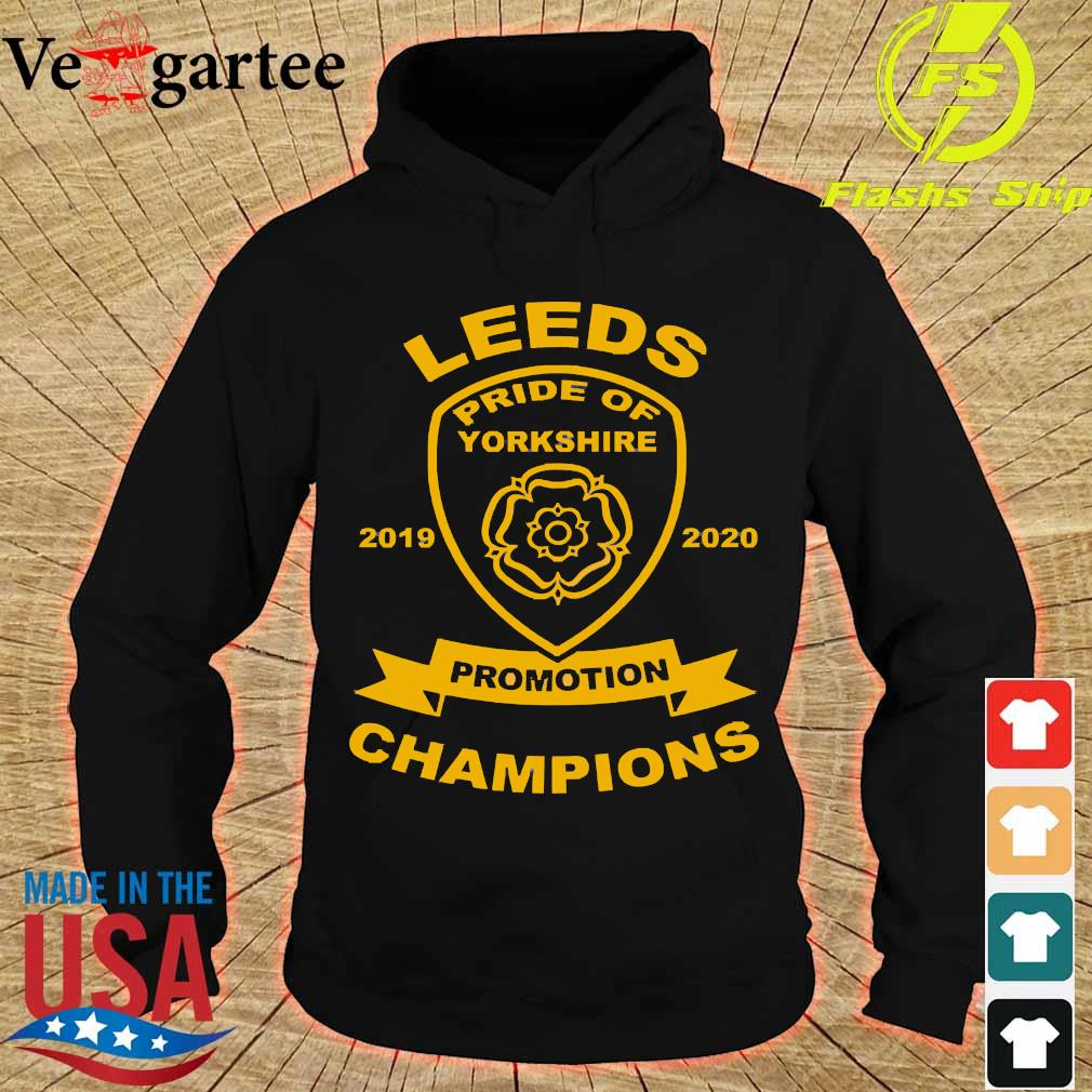 Leeds pride of yorkshire 2019 2020 promotion champions s hoodie