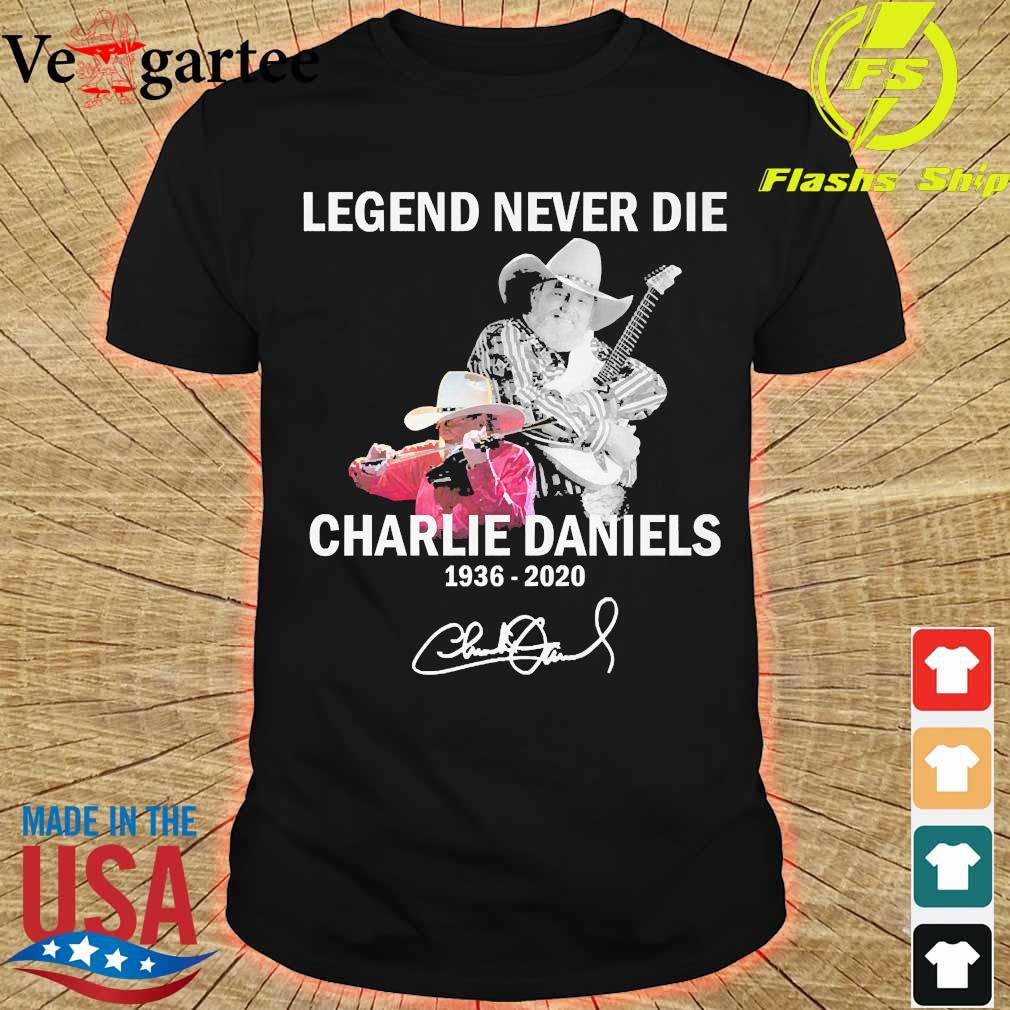 Legend never die Charlie Daniels 1936 2020 signature shirt