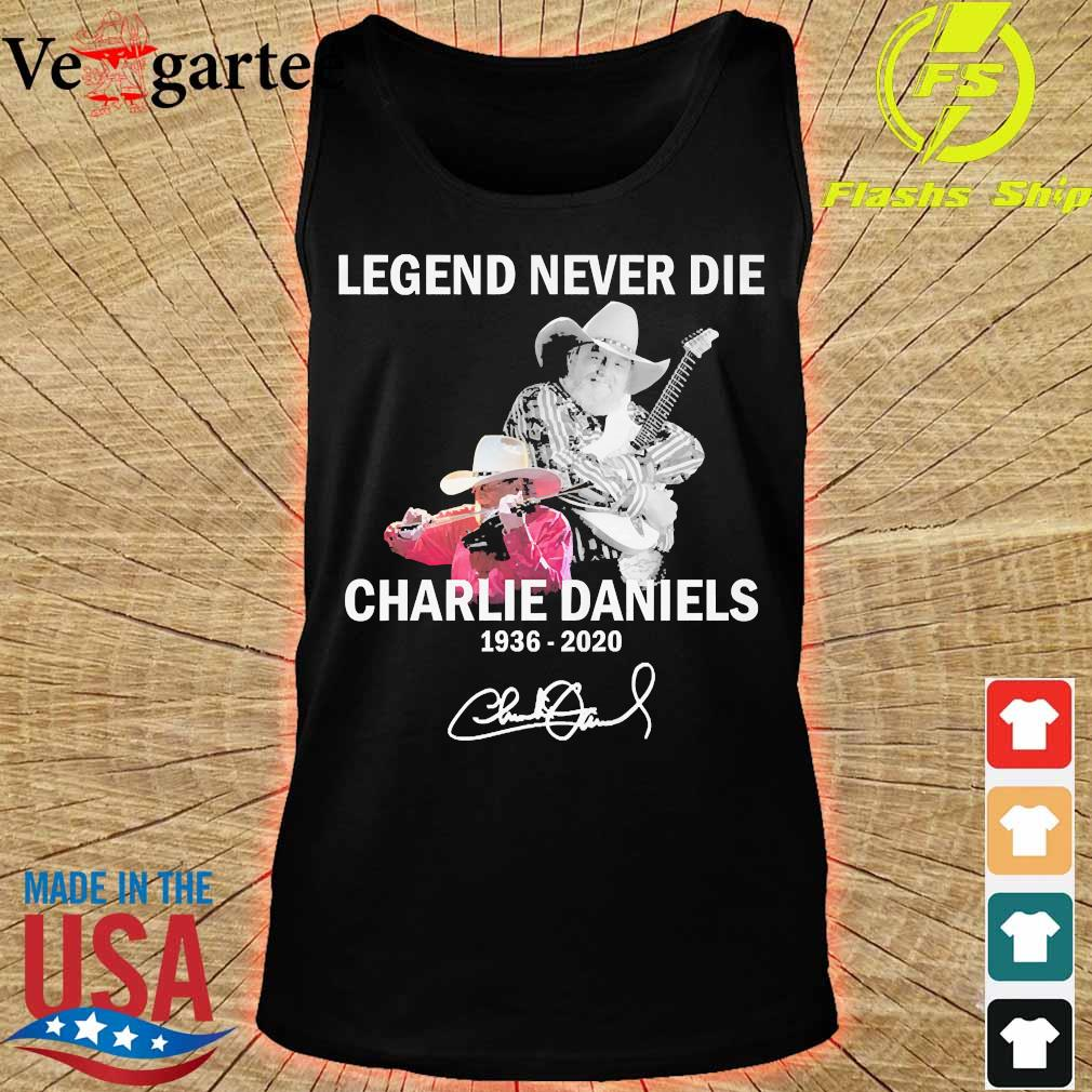 Legend never die Charlie Daniels 1936 2020 signature s tank top