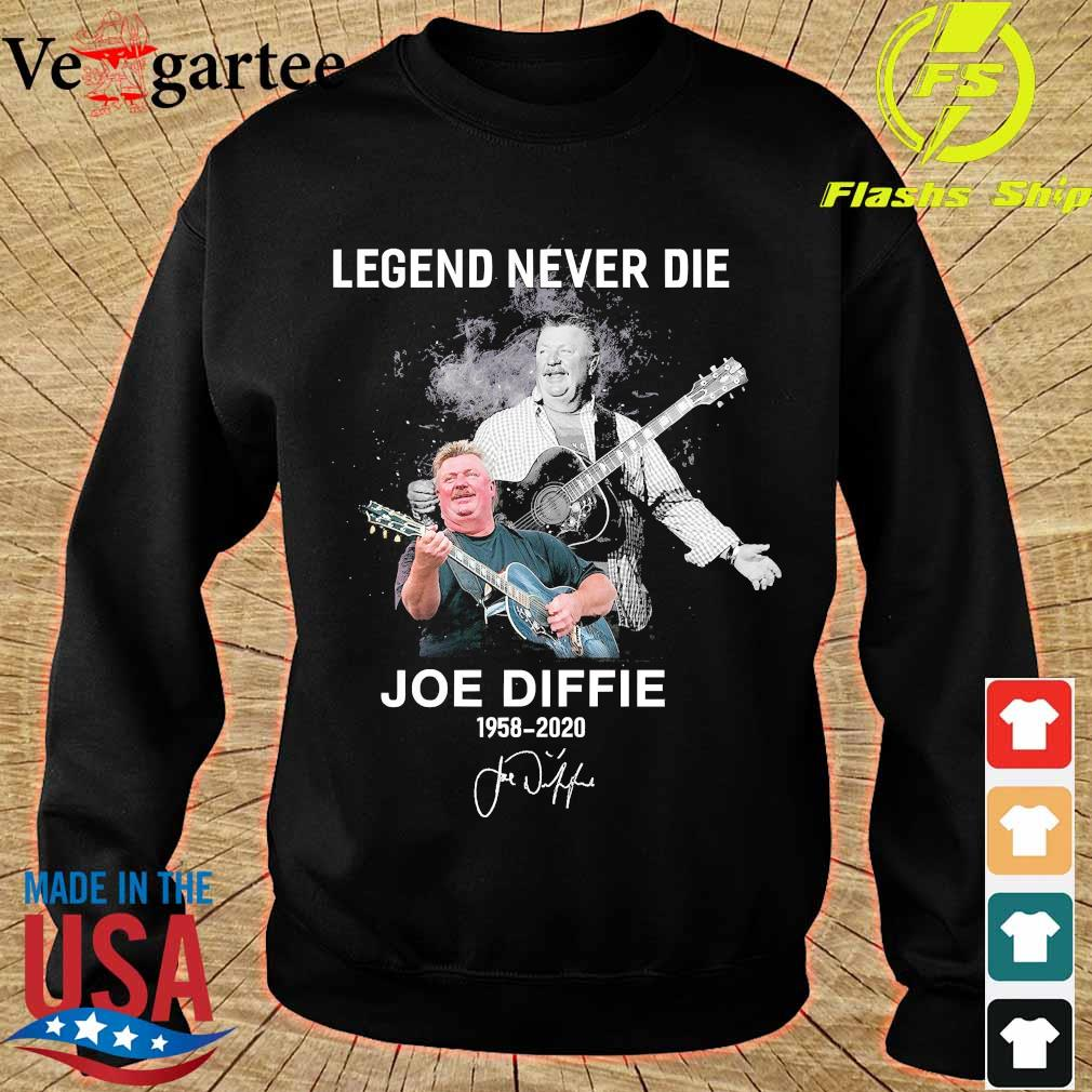 Legend never die Joe Diffie 1958 2020 signature s sweater