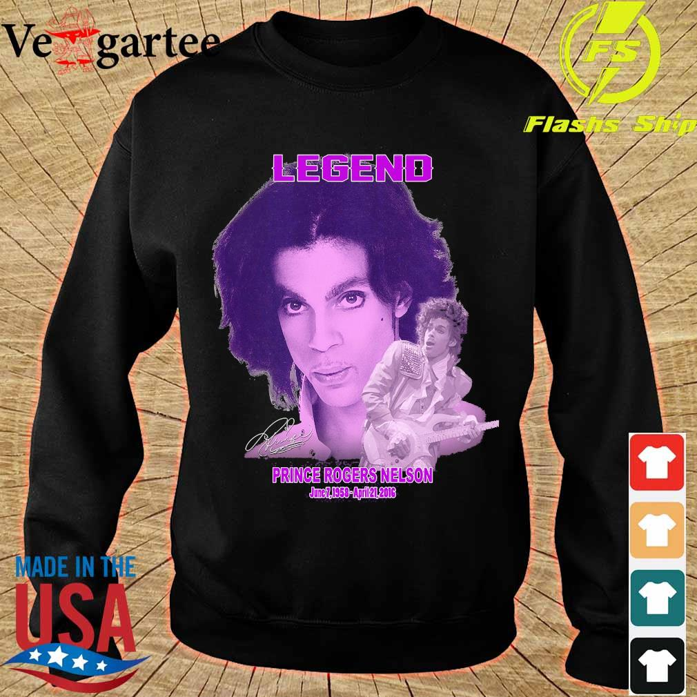 Legend Prince rogers nelson 1958 2016 signature s sweater