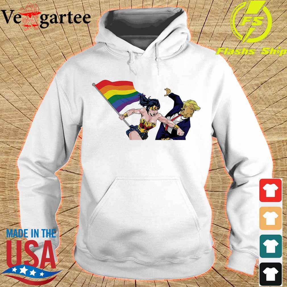 LGBT Wonder Woman knockout Donald Trump s hoodie