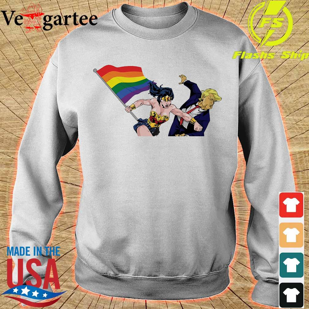 LGBT Wonder Woman knockout Donald Trump s sweater