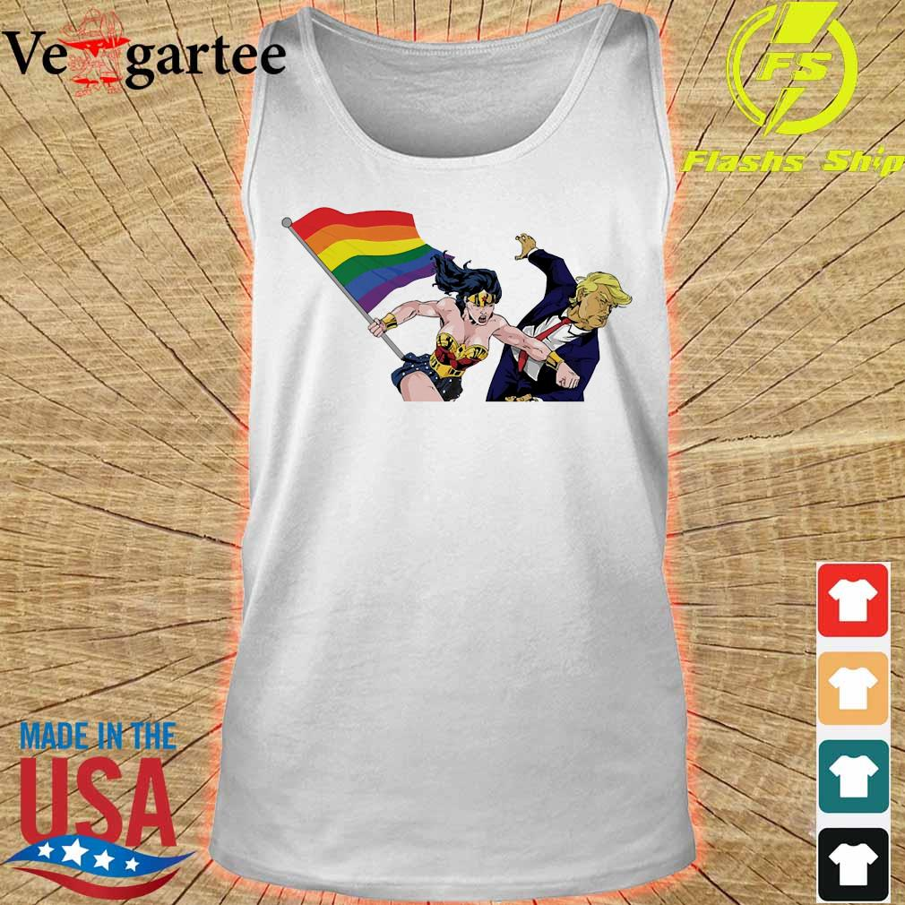 LGBT Wonder Woman knockout Donald Trump s tank top