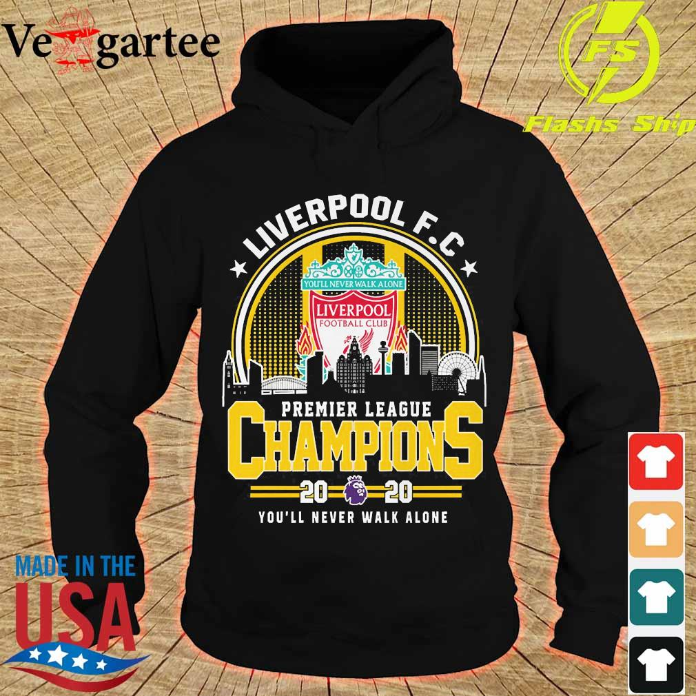 Liverpool F.C premier league champions 2020 You'll never walk alone s hoodie
