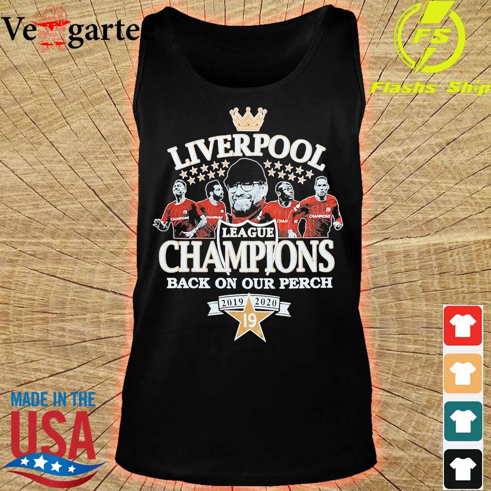 Liverpool league champions back on our perch 2019 2020 s tank top