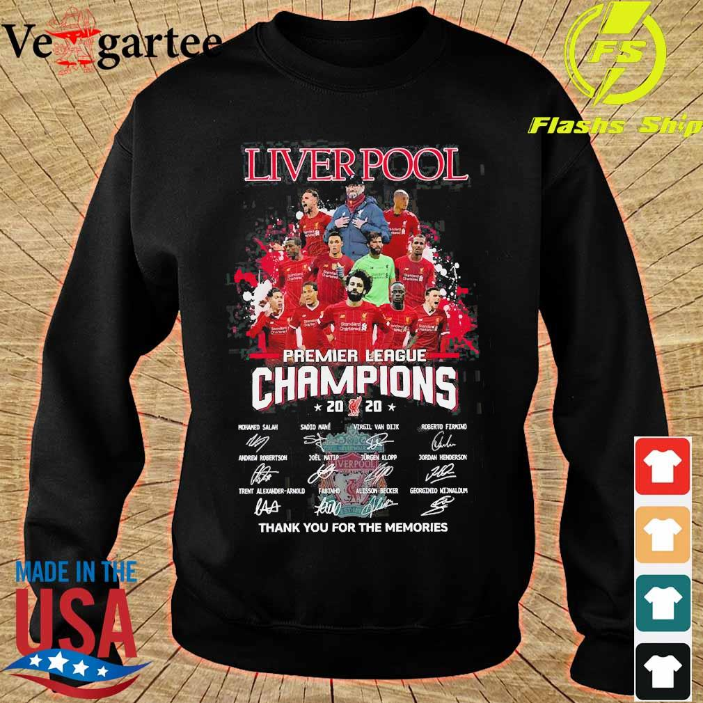 Liverpool premier league champions 2020 thank You for the memories signatures s sweater