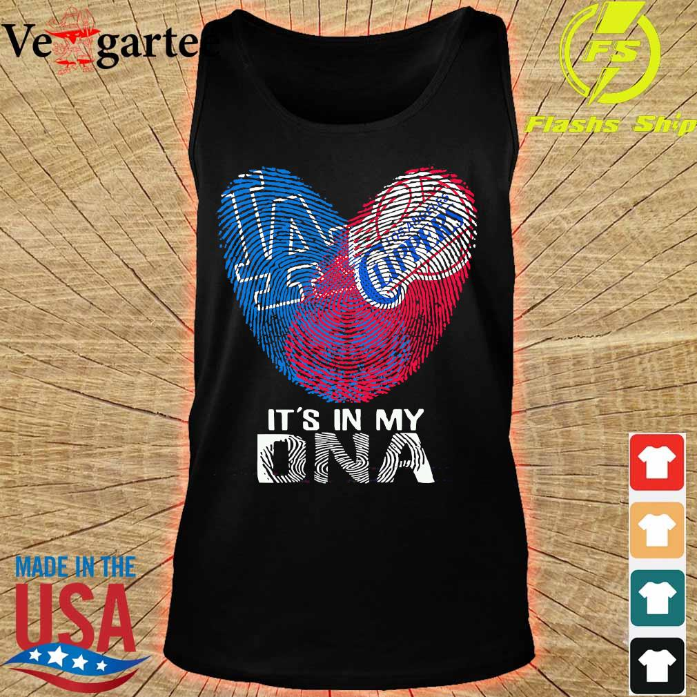 Los Angeles Clippers and Los Angeles Dodgers It's in my DNA heart s tank top