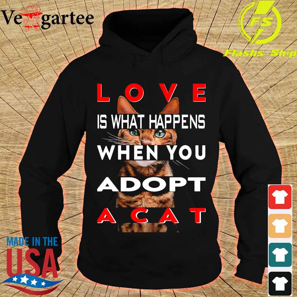 Love is what happens when You adopt a cat s hoodie