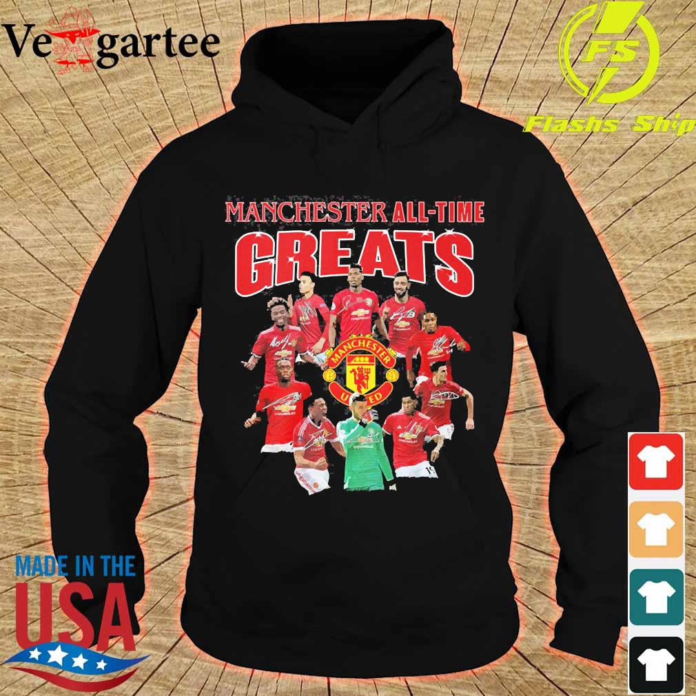 Manchester all time greats signatures s hoodie