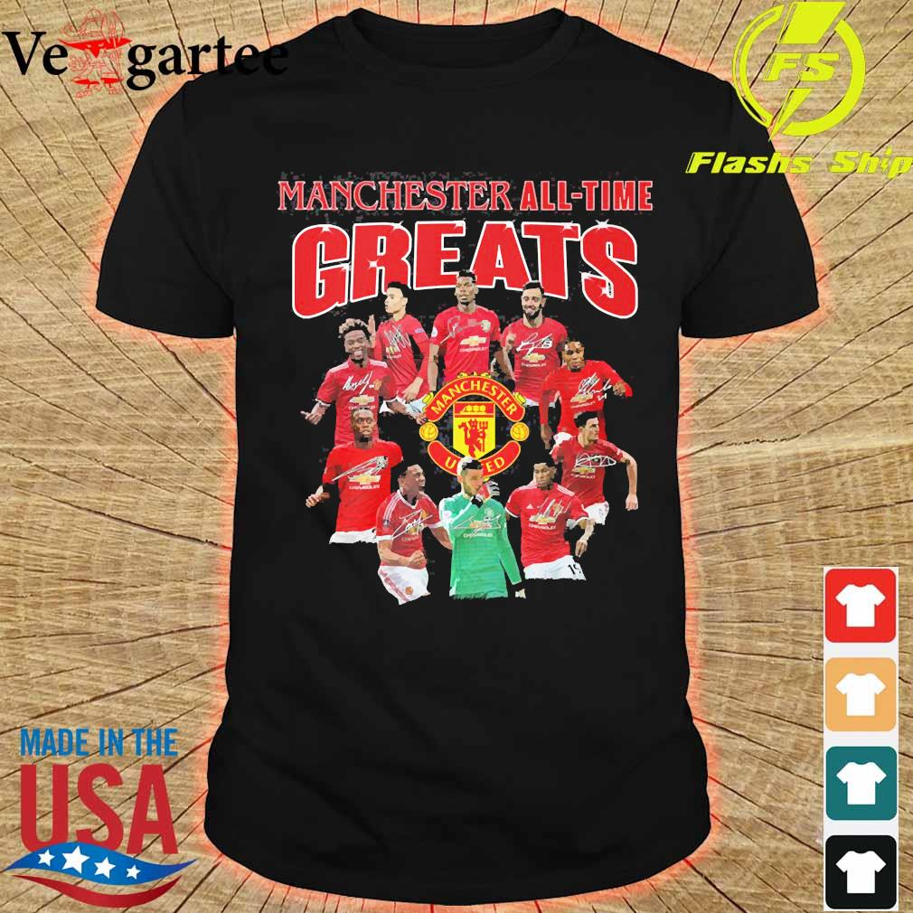 Manchester all time greats signatures shirt