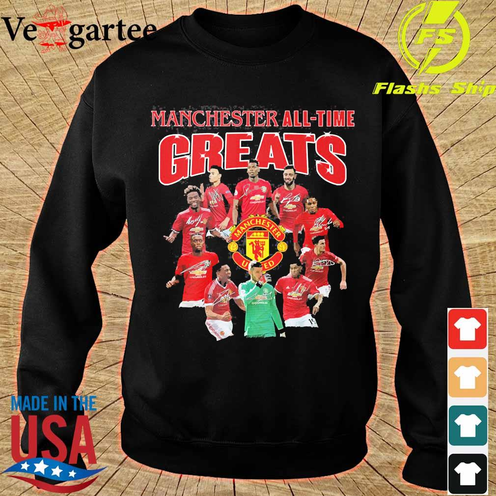 Manchester all time greats signatures s sweater