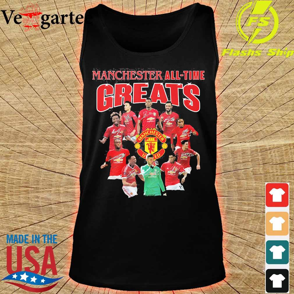 Manchester all time greats signatures s tank top
