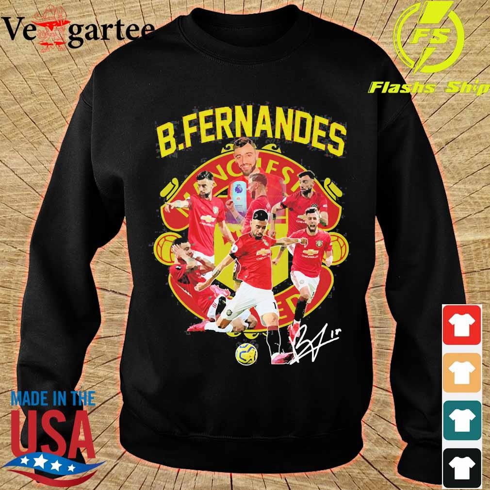 Manchester United B. Fernandes signature s sweater