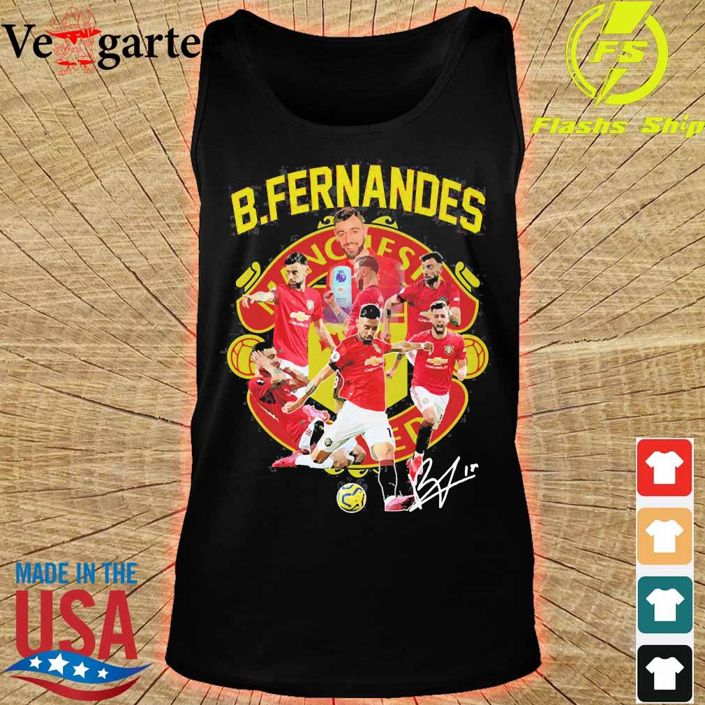 Manchester United B. Fernandes signature s tank top