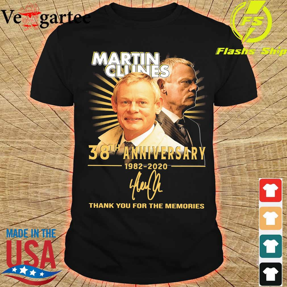 Martin Clunes 38th anniversary 1982 2020 thank You for the memories signature shirt