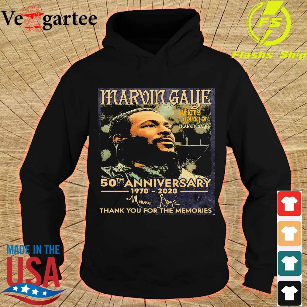 Marvin Gaye what's going on 50th anniversary 1970 2020 thank You for the memories signature s hoodie