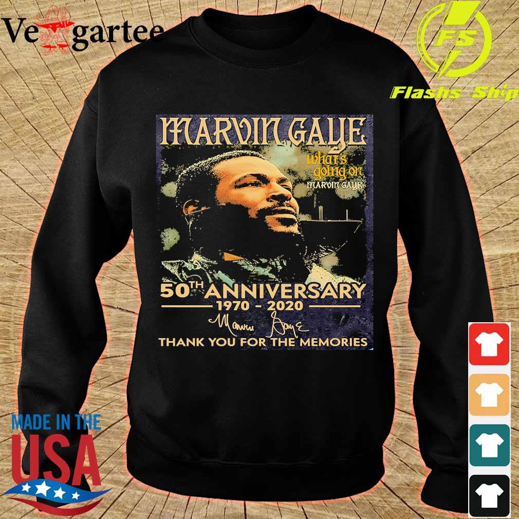 Marvin Gaye what's going on 50th anniversary 1970 2020 thank You for the memories signature s sweater