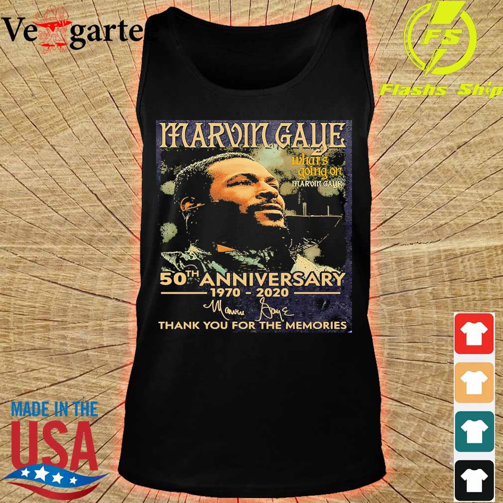 Marvin Gaye what's going on 50th anniversary 1970 2020 thank You for the memories signature s tank top